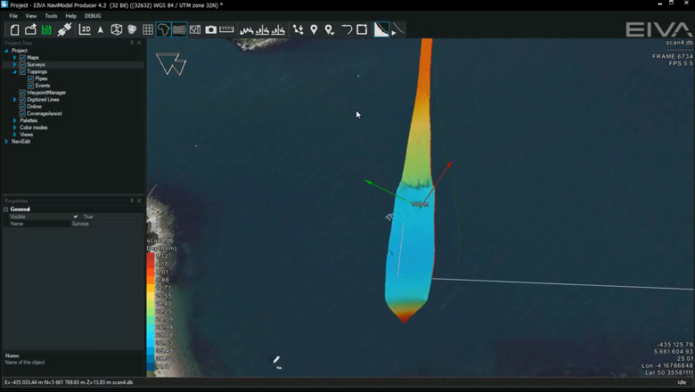 EIVA NaviSuite - Multibeam and hydrographic surveys - Coverage Assisted Runlines in NaviPac