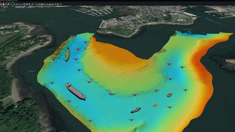 Navigating with virtual marker buoys in NaviSuite Perio software