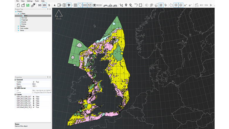 A geological survey of Britain used in EIVA's NaviModel software