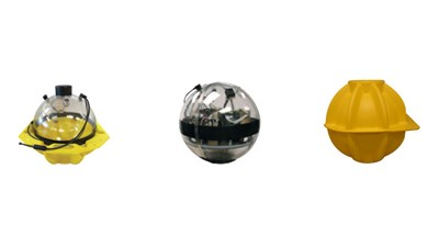 Flotation (glass spheres and hard hats)